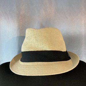 H&M woven fedora hat